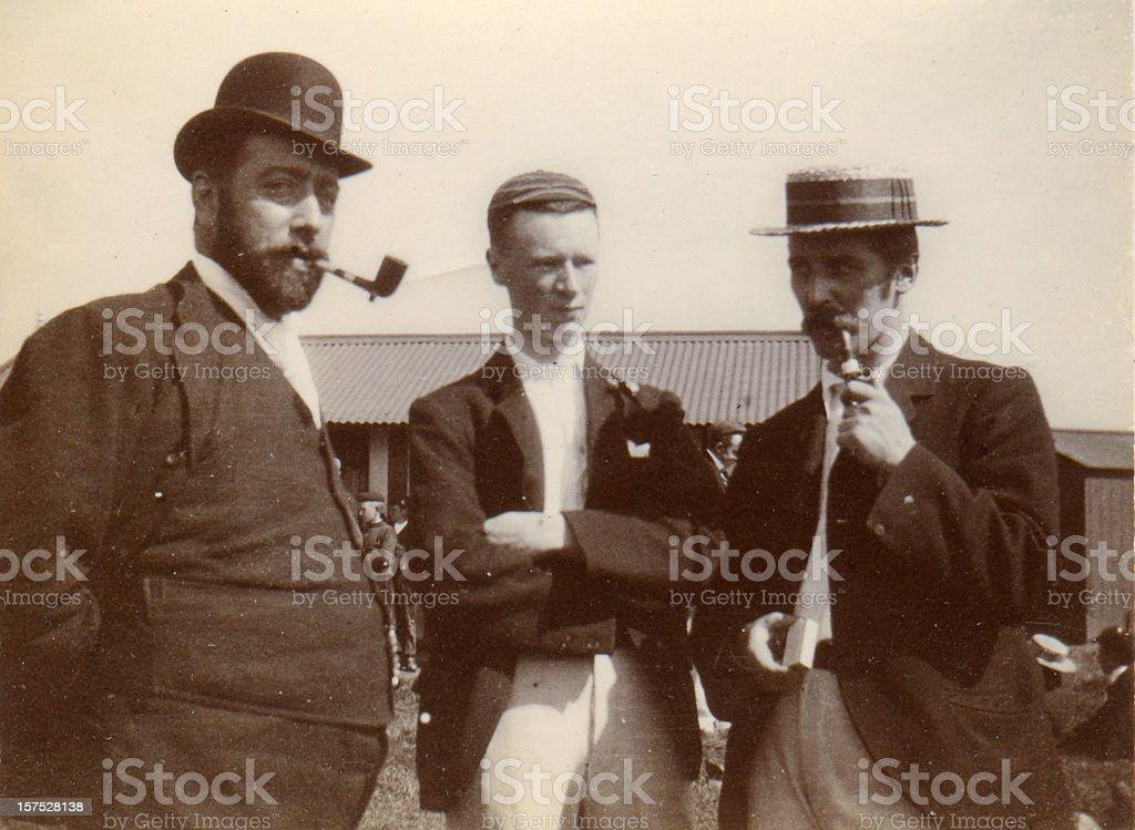 Vintage photograph Victorian Men stock photo