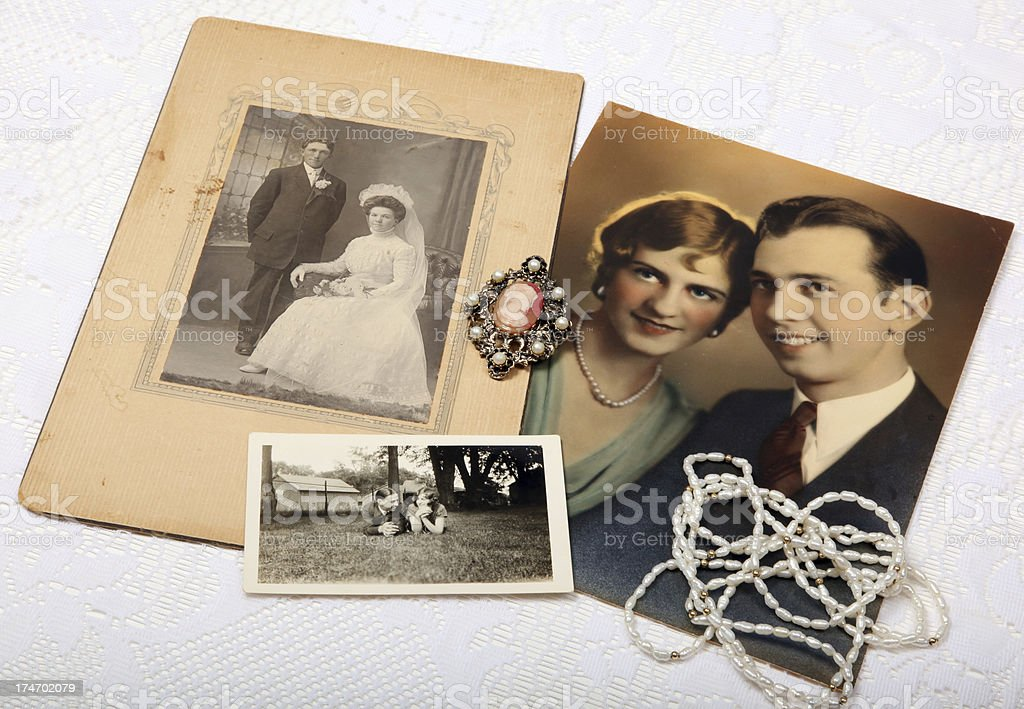 Vintage photos royalty-free stock photo