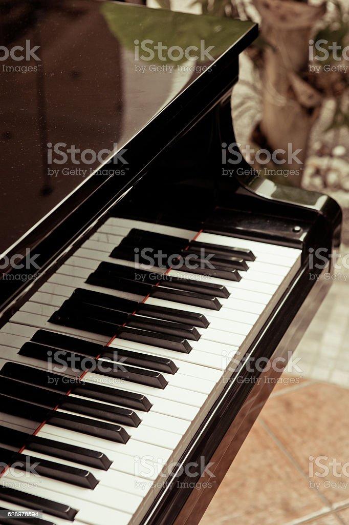 Vintage Piano keys stock photo