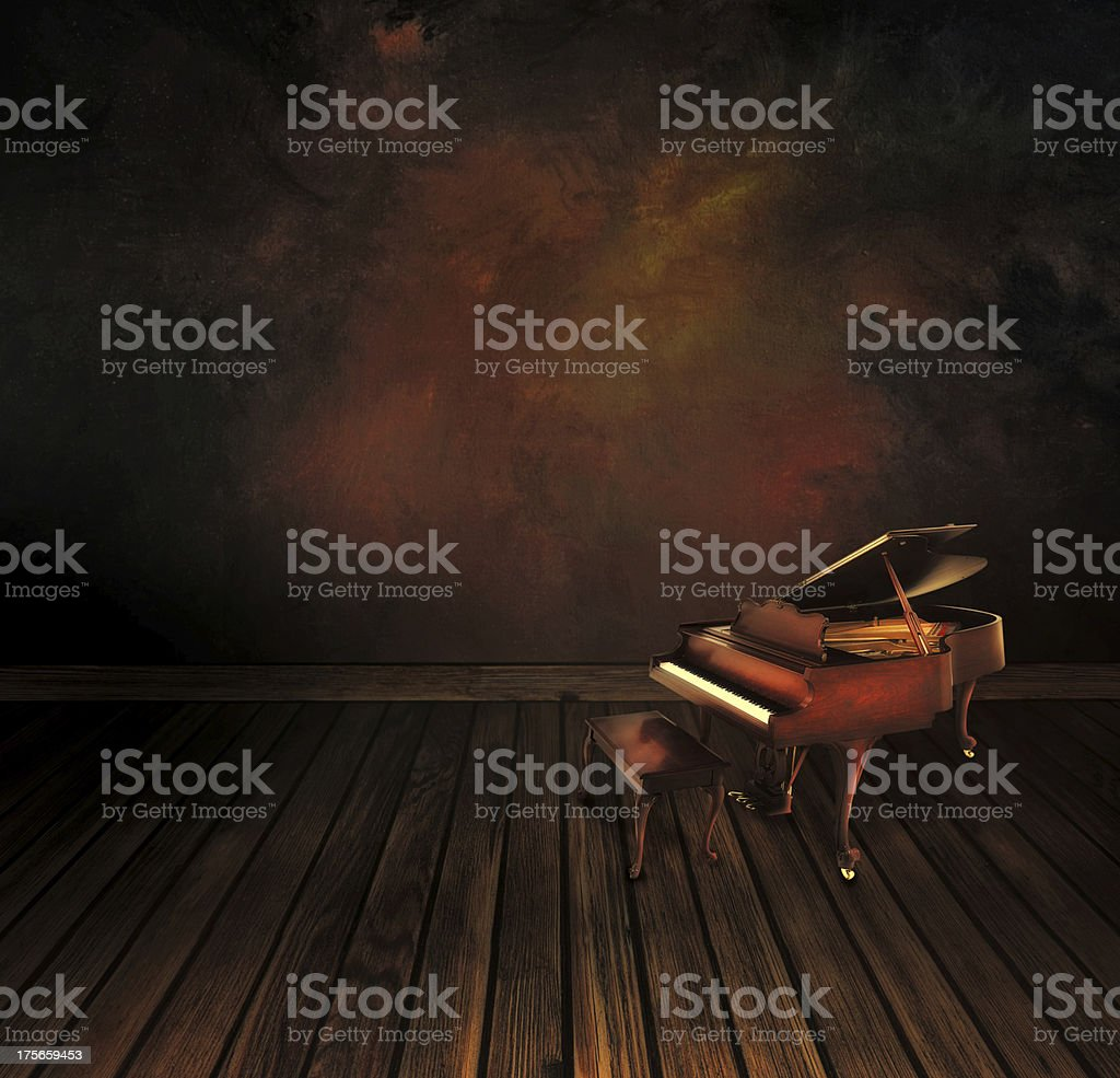Vintage piano on Art abstract background stock photo