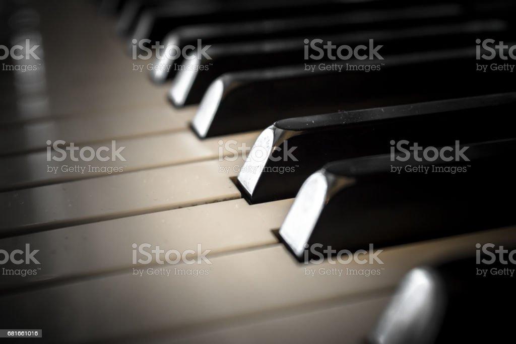 Vintage piano stock photo