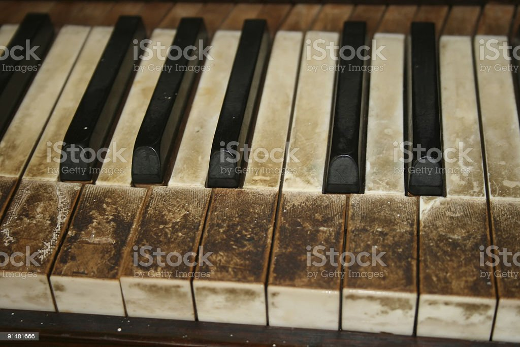Vintage piano royalty-free stock photo