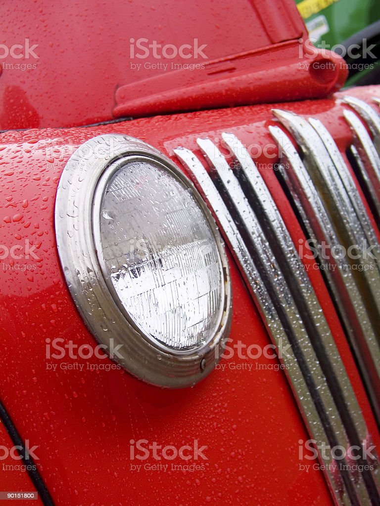Vintage Pick-Up Truck in the Rain 2 royalty-free stock photo