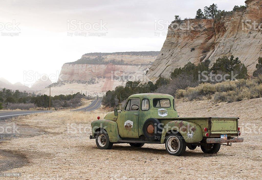 Vintage Pick-Up Truck stock photo