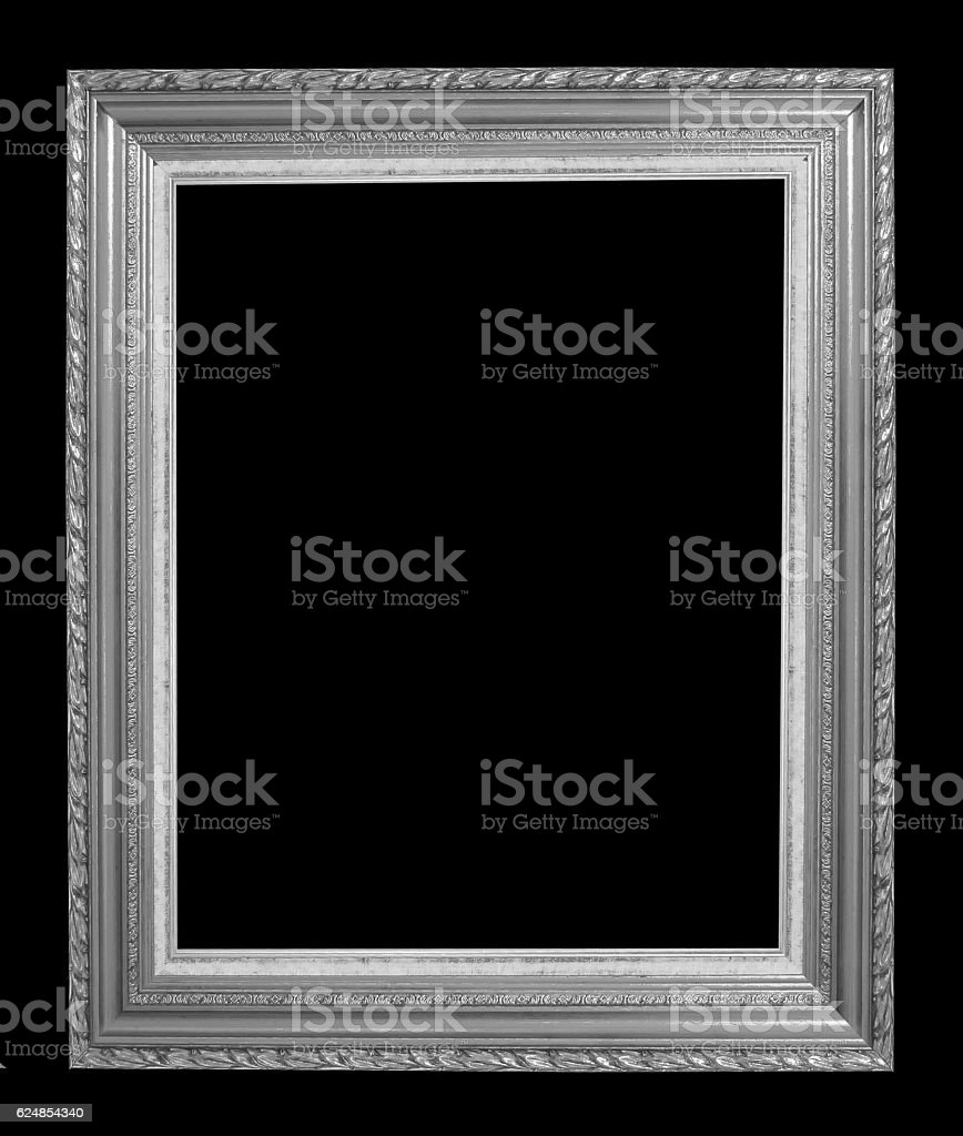 Vintage picture frame isolated on white background stock photo