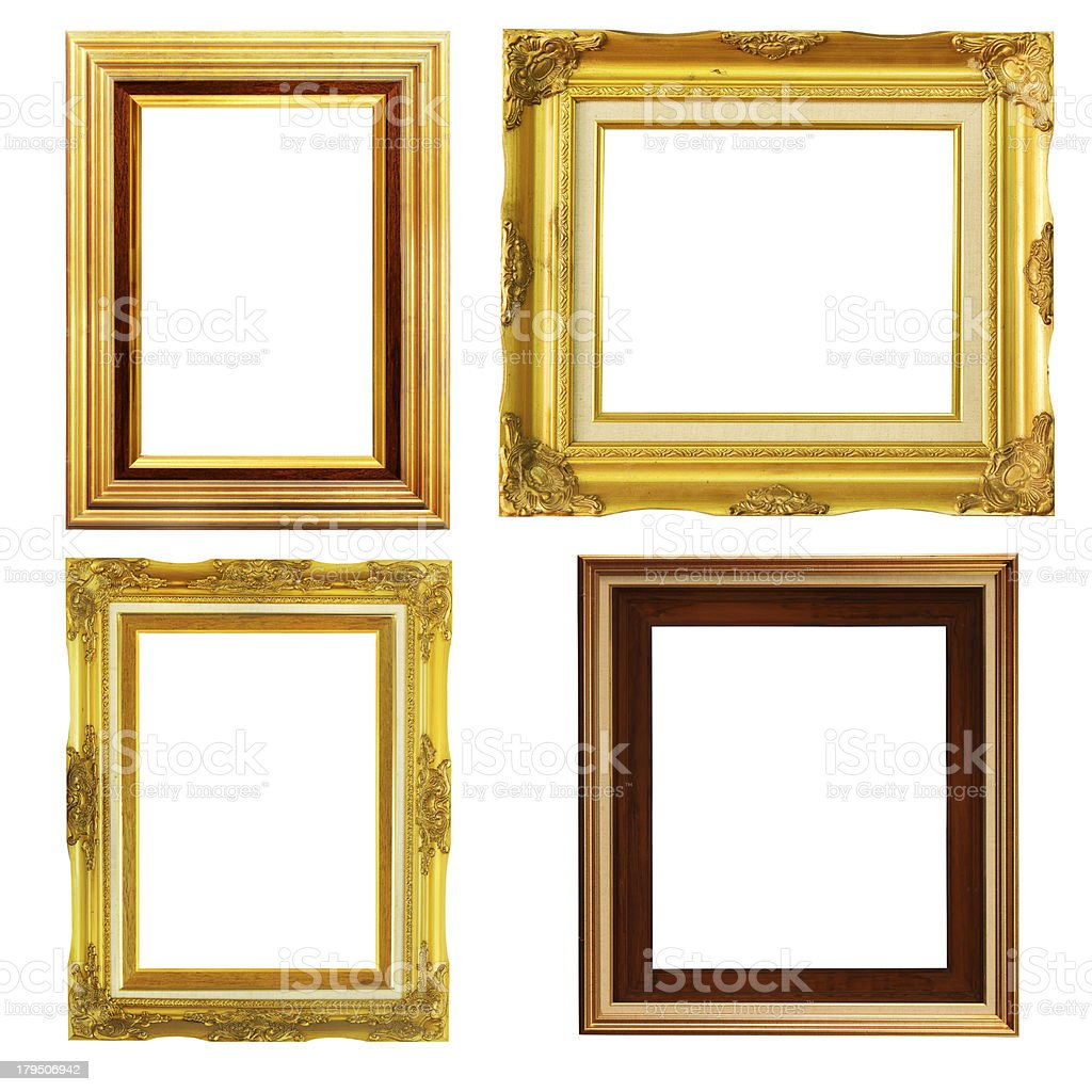 Vintage picture frame, wood plated royalty-free stock photo