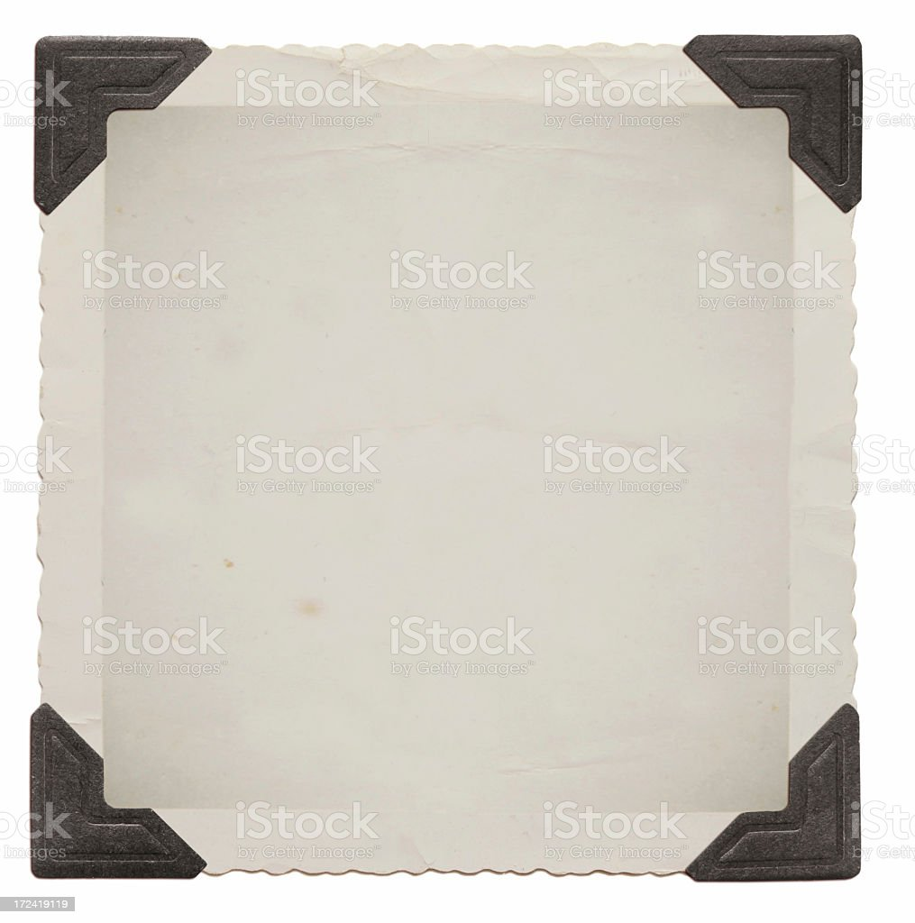 Vintage picture with black corners stock photo
