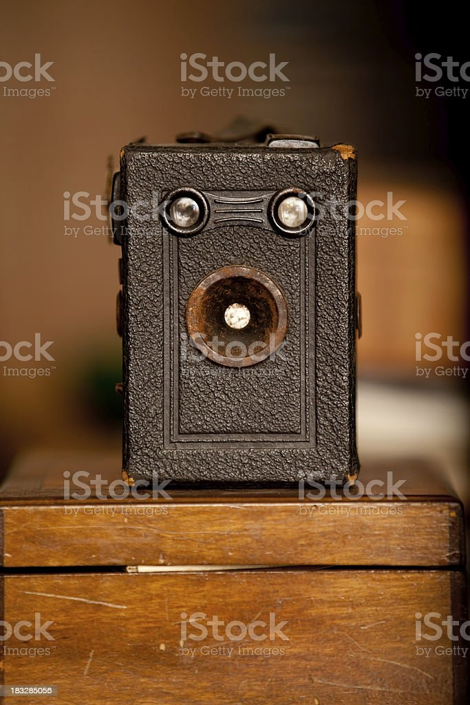 Vintage Pinhole Camera stock photo