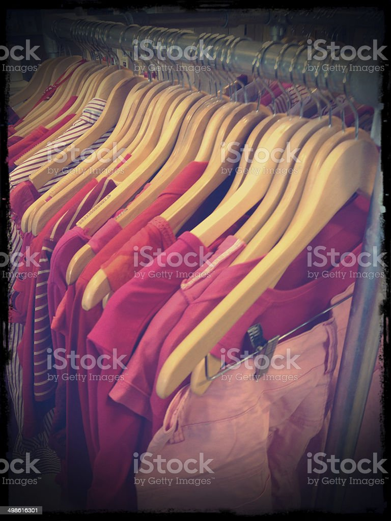 Vintage pink clothing stock photo