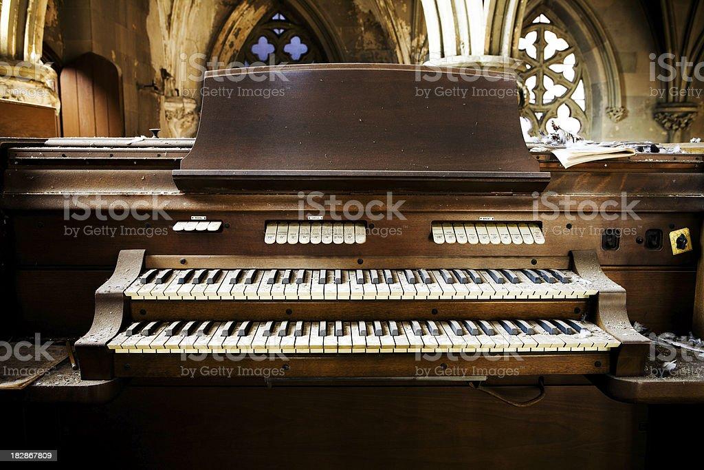 vintage pipe organ stock photo