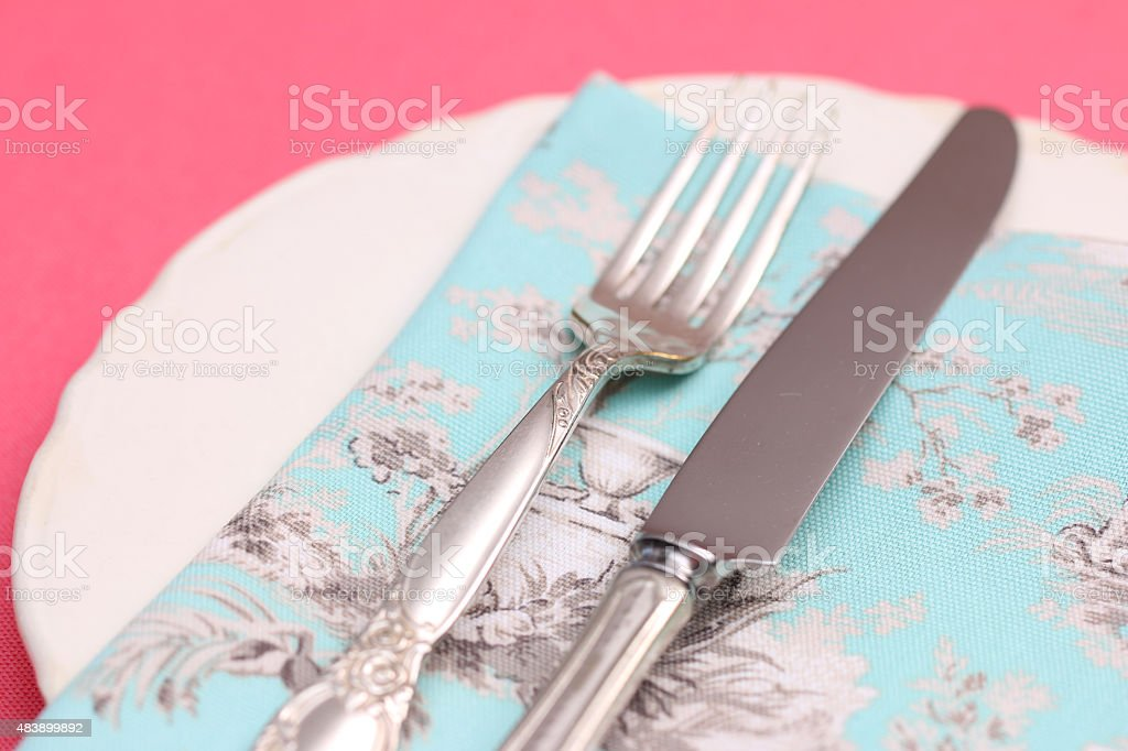 Vintage Place Setting stock photo