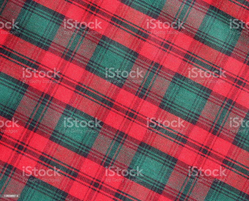 Vintage Plaid in Red and Green stock photo
