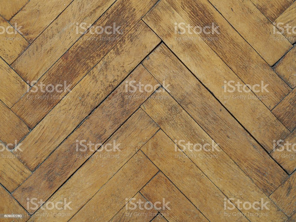 Vintage plain wooden parquet floor stock photo
