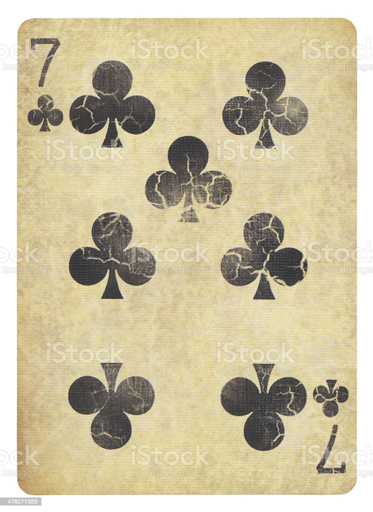 Vintage Playing card Isolated (clipping path included) royalty-free stock photo