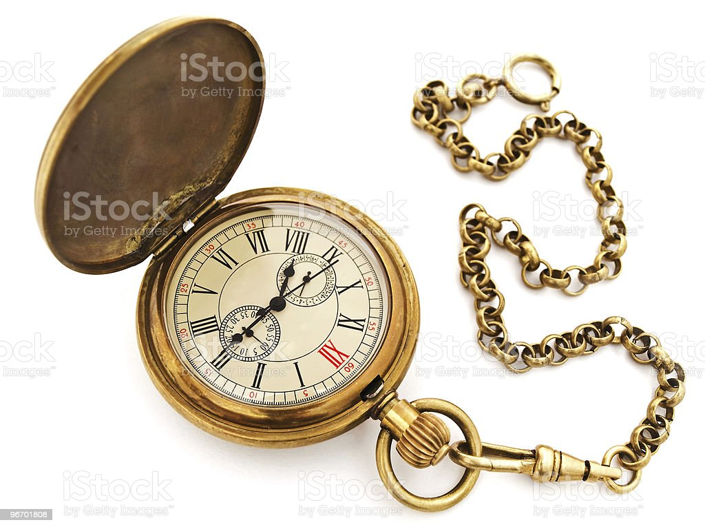 vintage pocket clock royalty-free stock photo