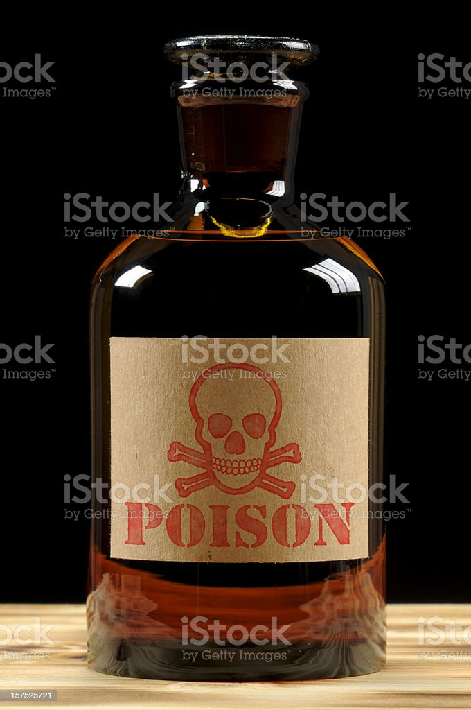 Vintage Poison Bottle royalty-free stock photo