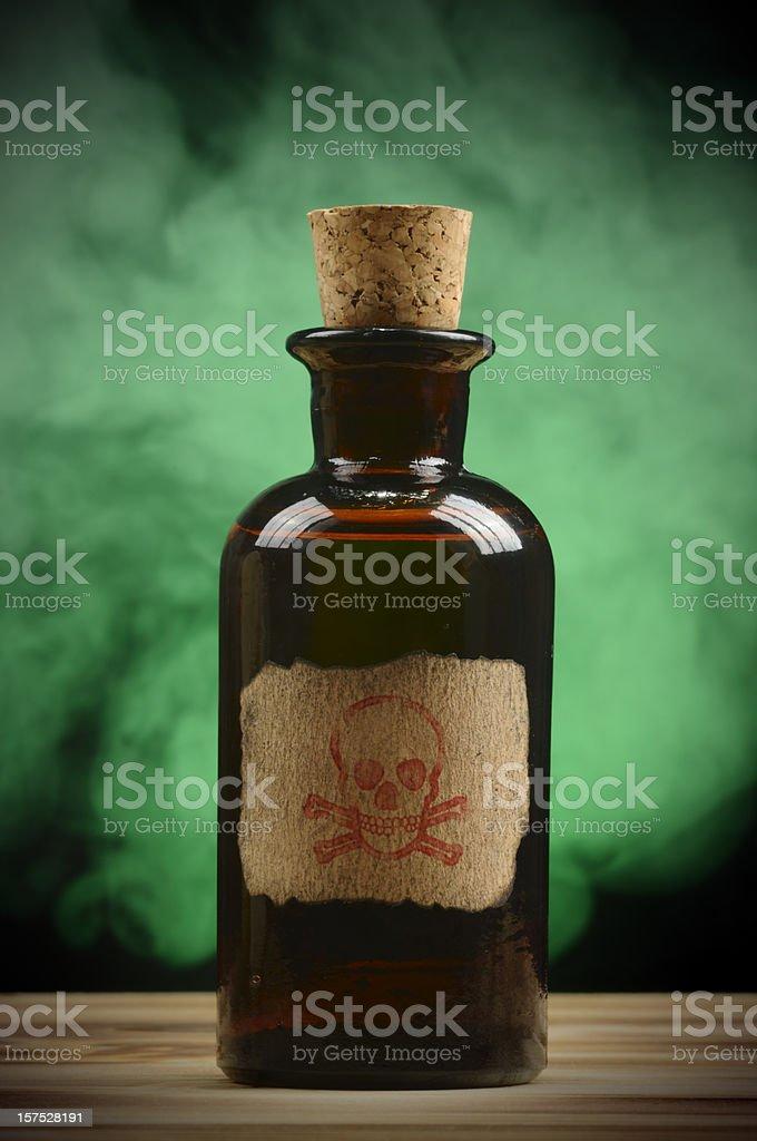 Vintage Poison Bottle royalty-free stock photo