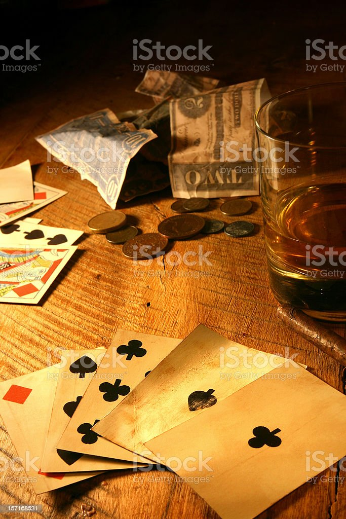 Vintage Poker royalty-free stock photo