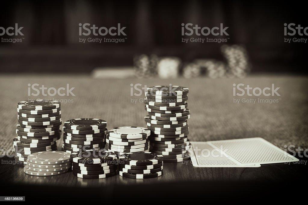 Vintage Poker stock photo