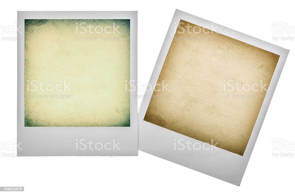 Vintage polaroid photo frames. Instagram filter effect stock photo