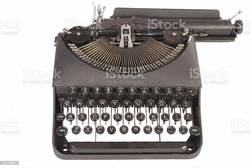 Vintage Manual portátil de máquina de escrever foto royalty-free