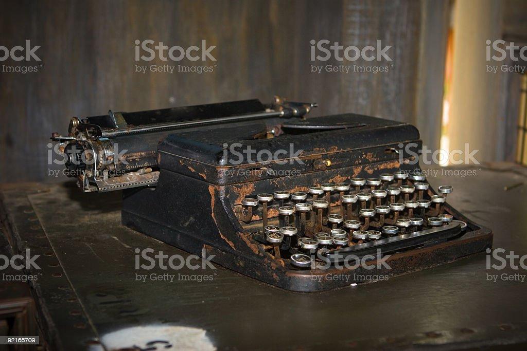 Vintage Portable Typewriter stock photo