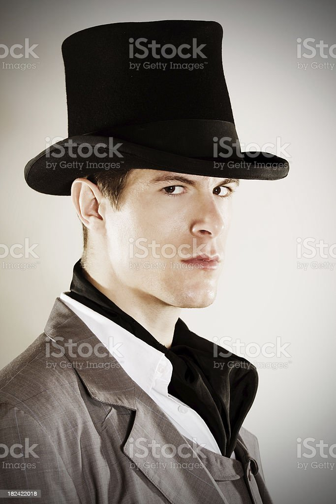 Vintage portrait of a handsome man royalty-free stock photo