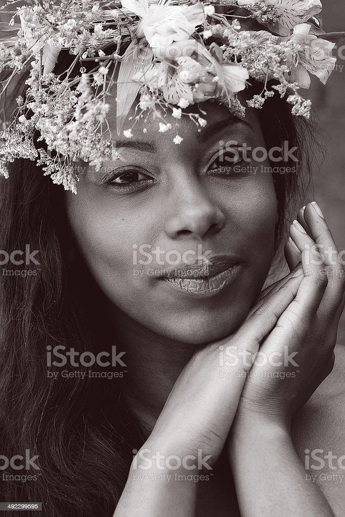 Vintage Ritratto di una giovane ragazza foto stock royalty-free