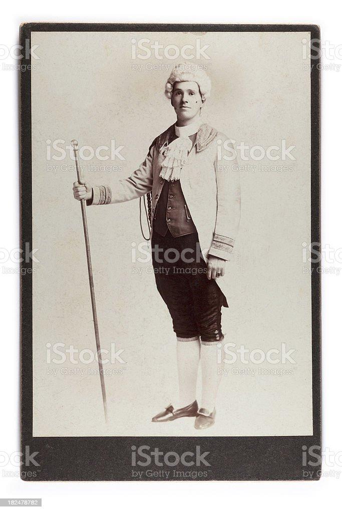 Vintage Portrait of Man in Fancy Dress as 18C Dandy stock photo