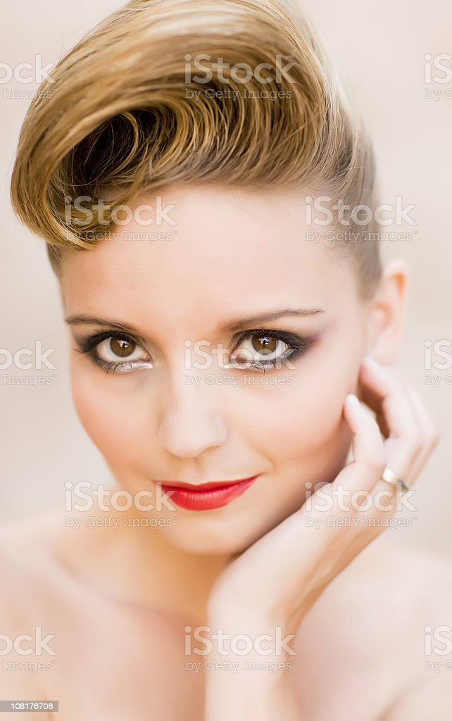 Vintage Portrait royalty-free stock photo