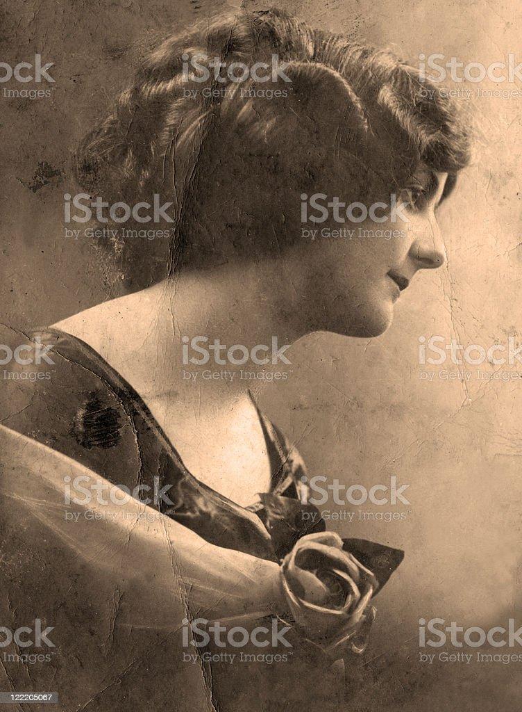 Vintage portrait. stock photo