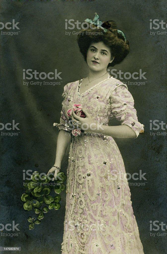 Vintage portrait. royalty-free stock photo