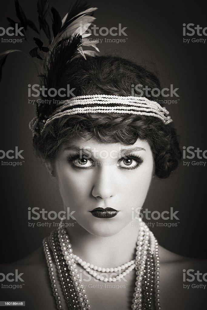 vintage portrait royalty-free stock photo