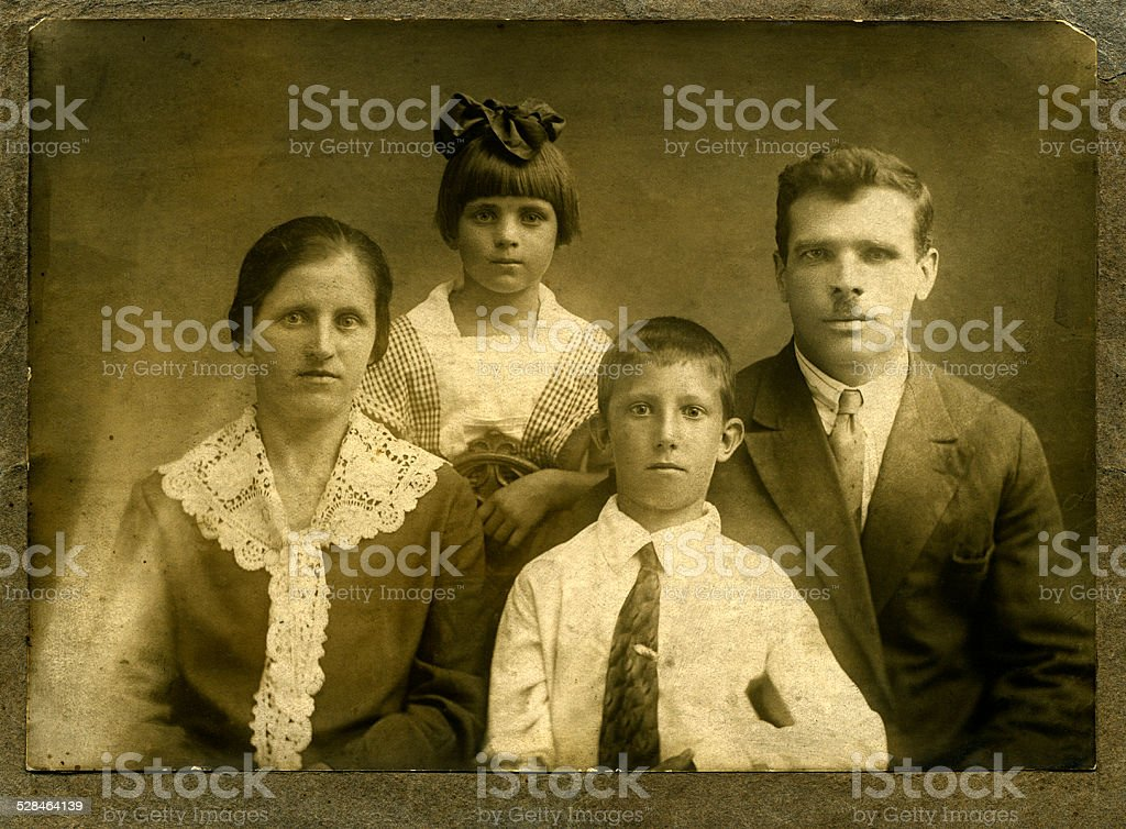 Vintage portrait stock photo