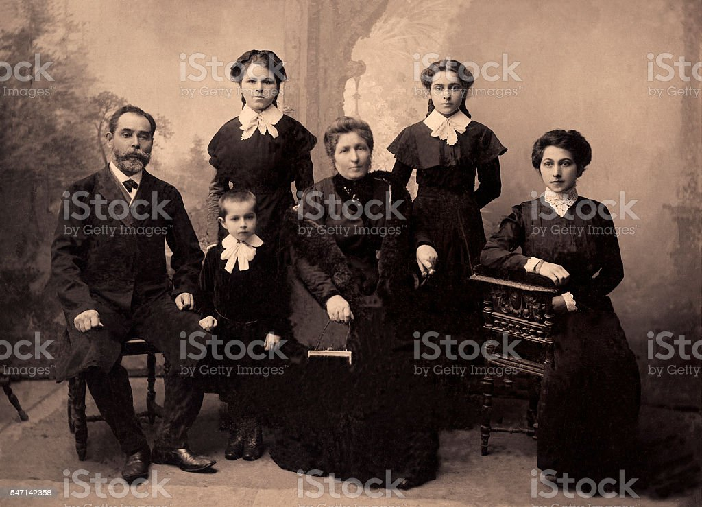 Vintage portrait,1911 year royalty-free stock photo