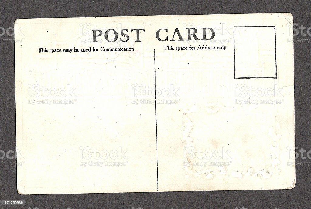 Vintage post card stock photo