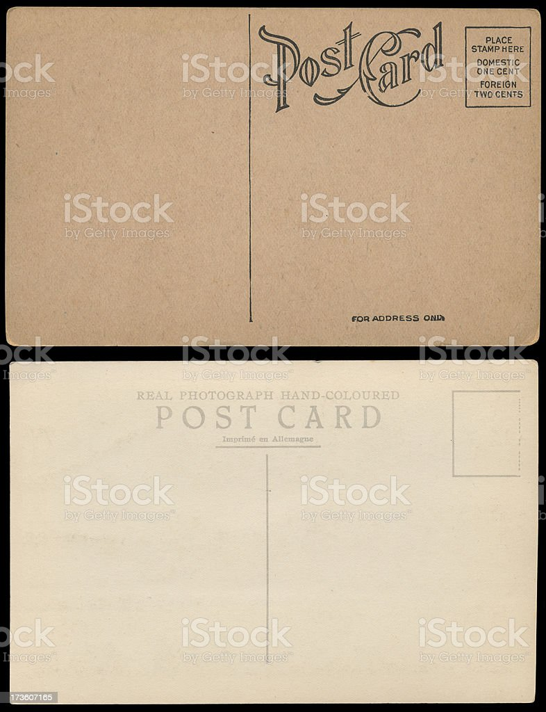 Vintage Post Cards stock photo