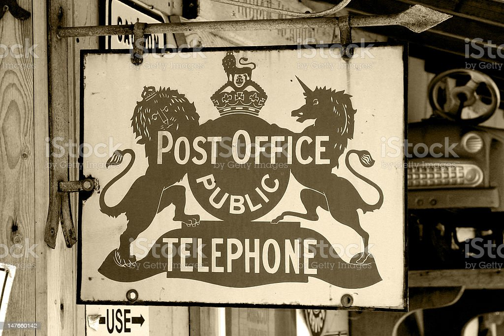 Vintage Post Office royalty-free stock photo