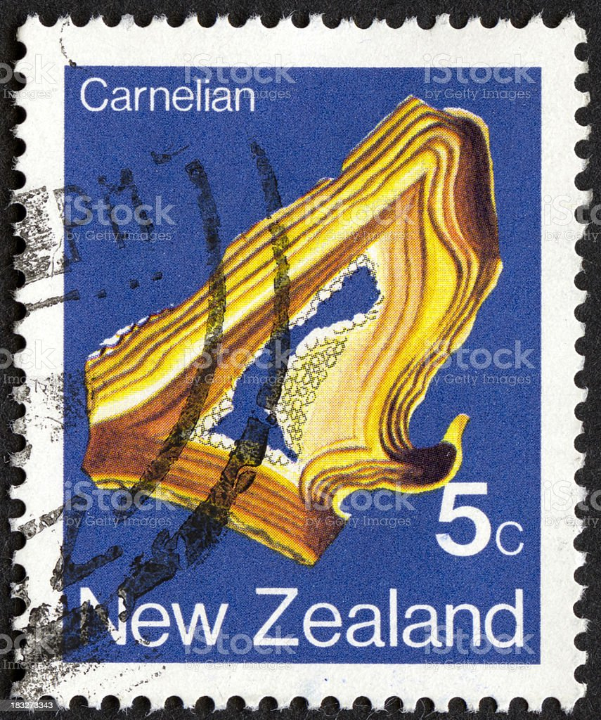 Vintage postage stamp from New Zealand stock photo