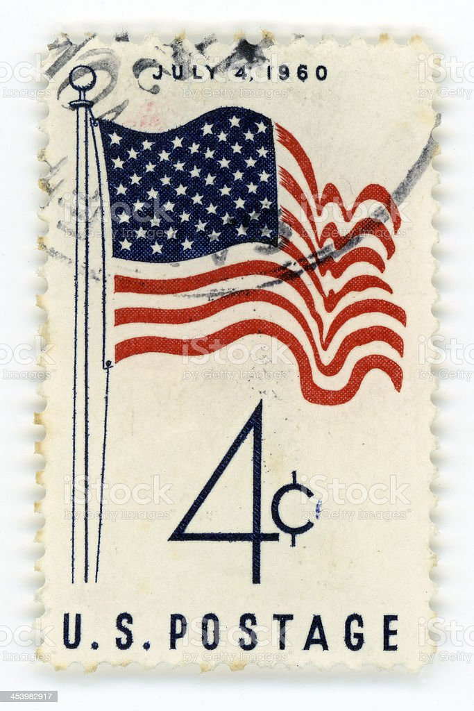 Vintage postage stamp USA royalty-free stock photo