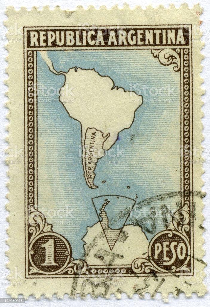 vintage postage stamp world ephemera argentina royalty-free stock photo
