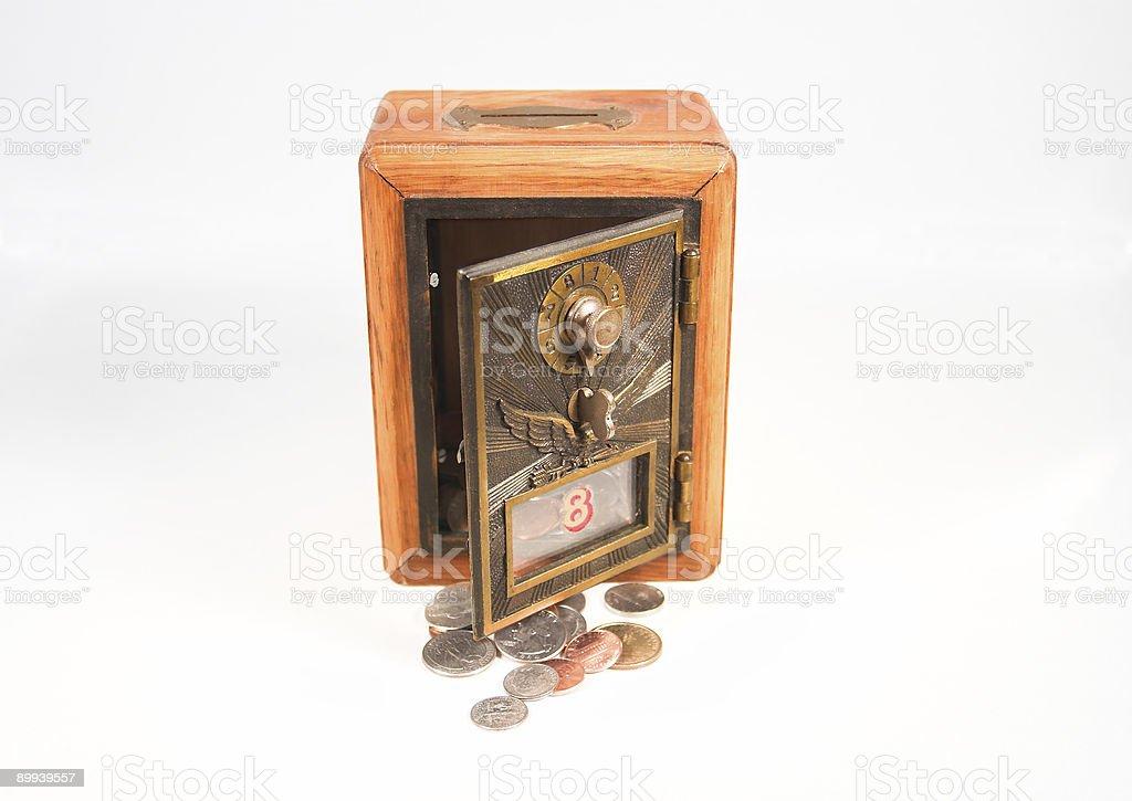 Vintage Postal Coin Bank royalty-free stock photo