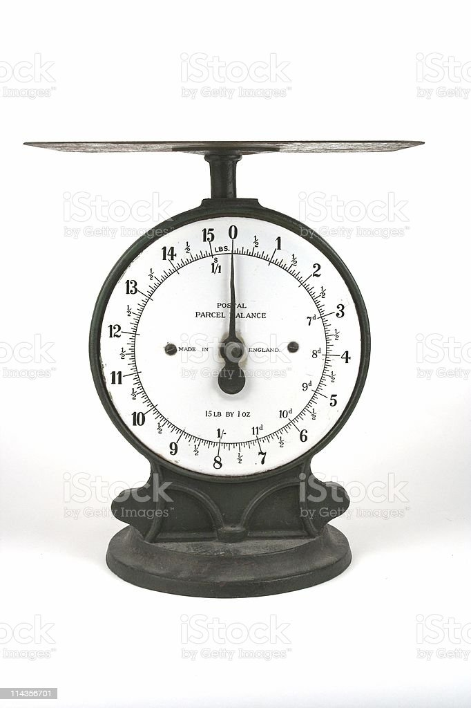 Vintage Postal Weighing Scales royalty-free stock photo