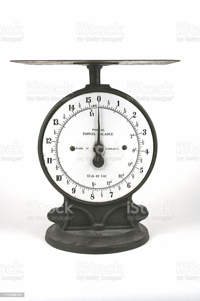 Vintage Postal Weighing Scales stock photo