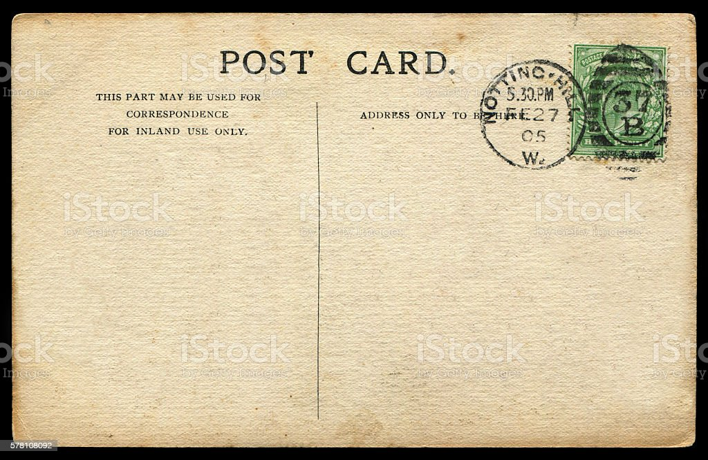 vintage postcard from Nortting Hill, britain stock photo