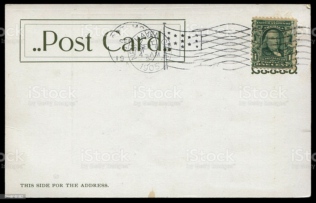 vintage postcard from US stock photo