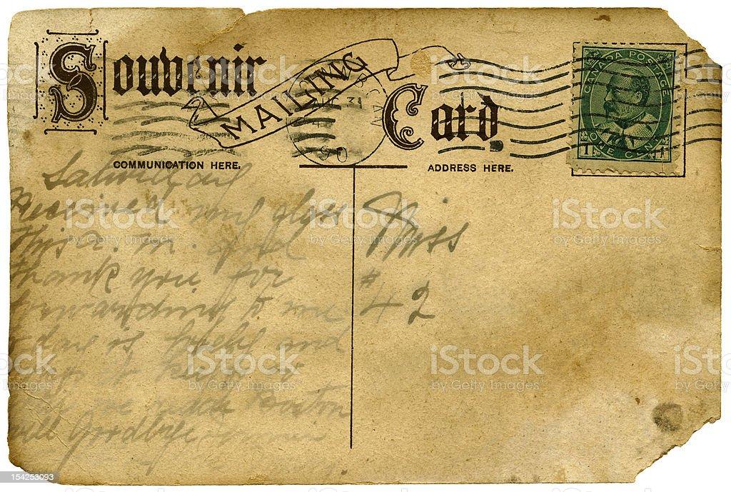 Vintage postcard (XXXL) royalty-free stock photo