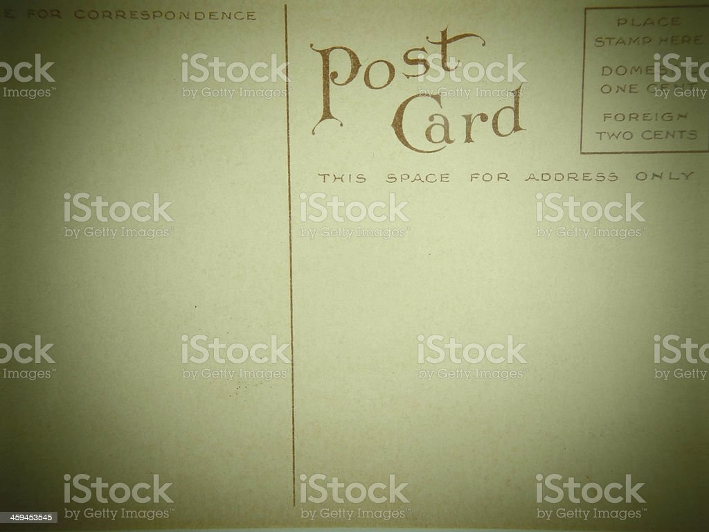 Vintage  Postcard royalty-free stock photo