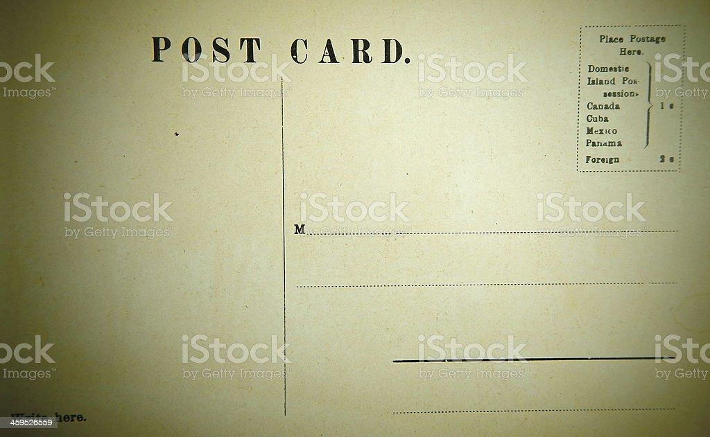 Vintage  Postcard royalty-free stock photo