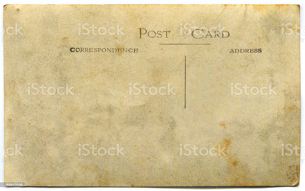 Vintage Postcard (con clipping path) foto stock royalty-free